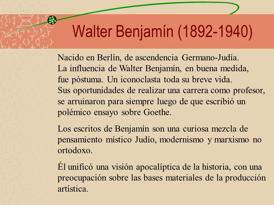 Walter Benjamín (1892-1940)