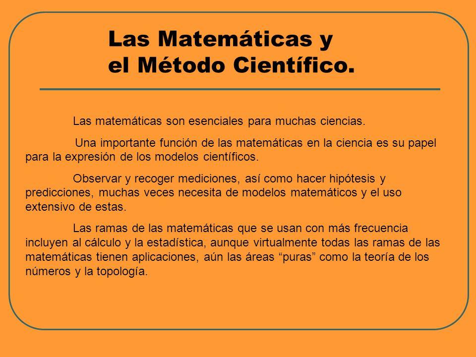 Las Matemáticas y el Método Científico.
