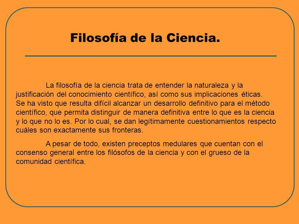 Filosofía de la Ciencia.