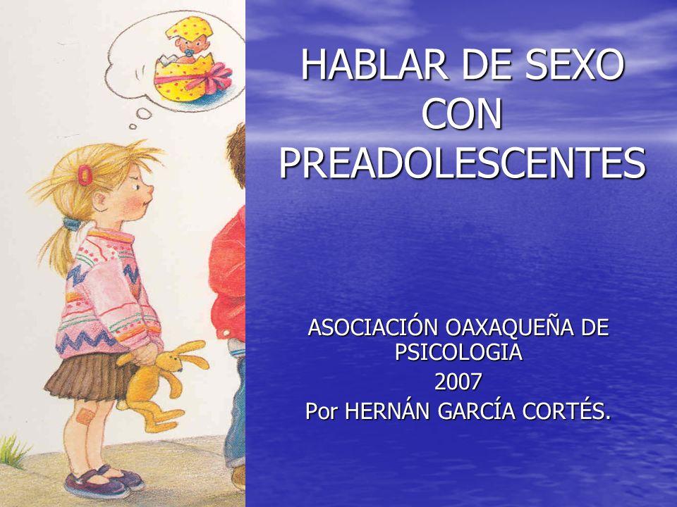 HABLAR DE SEXO CON PREADOLESCENTES