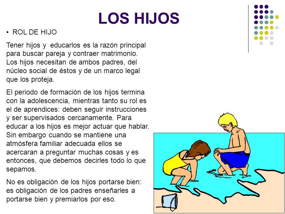 LOS HIJOS ROL DE HIJO.