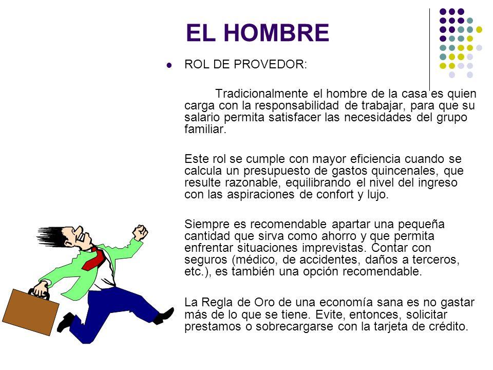 EL HOMBRE ROL DE PROVEDOR:
