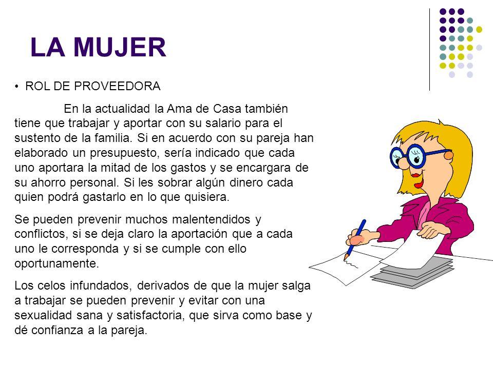 LA MUJER ROL DE PROVEEDORA