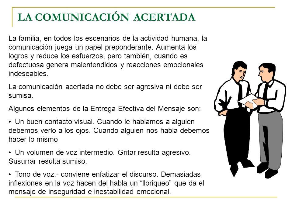LA COMUNICACIÓN ACERTADA