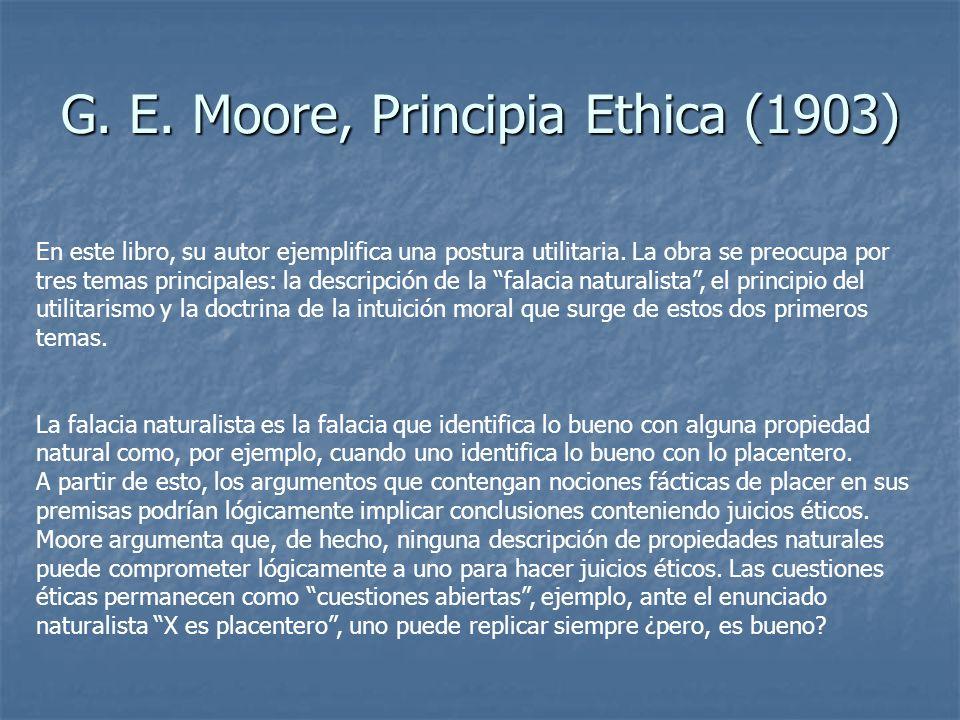 G. E. Moore, Principia Ethica (1903)