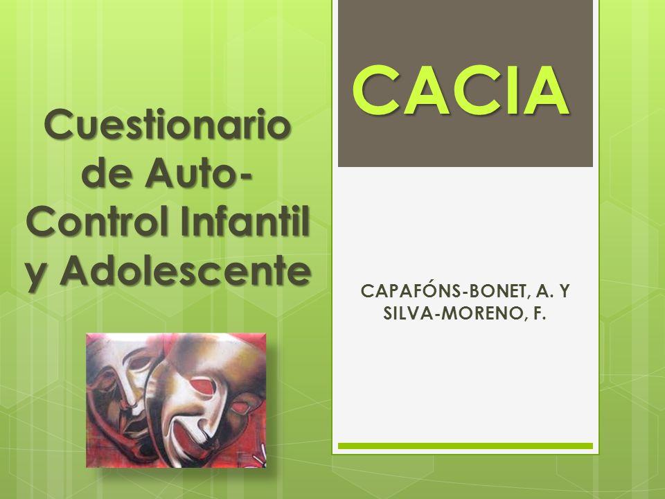Cuestionario de Auto-Control Infantil y Adolescente