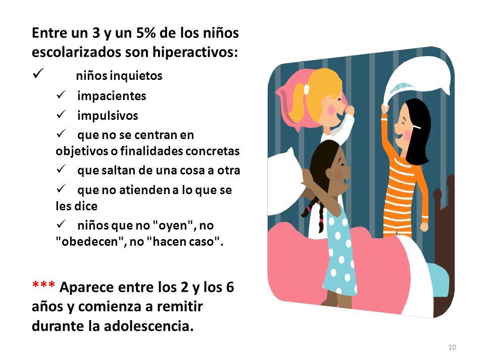 Entre un 3 y un 5% de los niños escolarizados son hiperactivos: