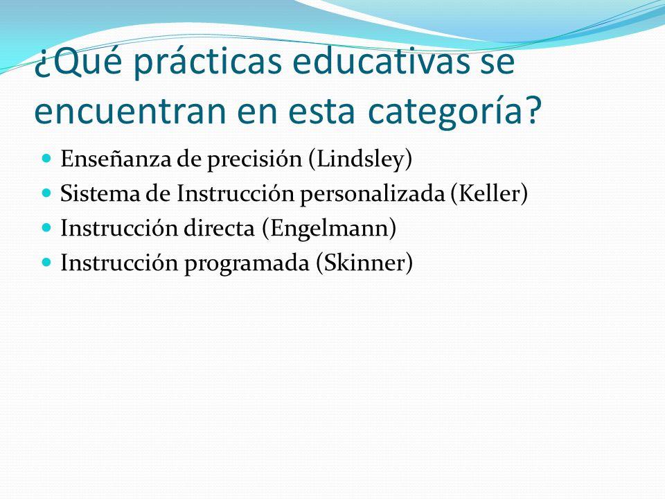 ¿Qué prácticas educativas se encuentran en esta categoría