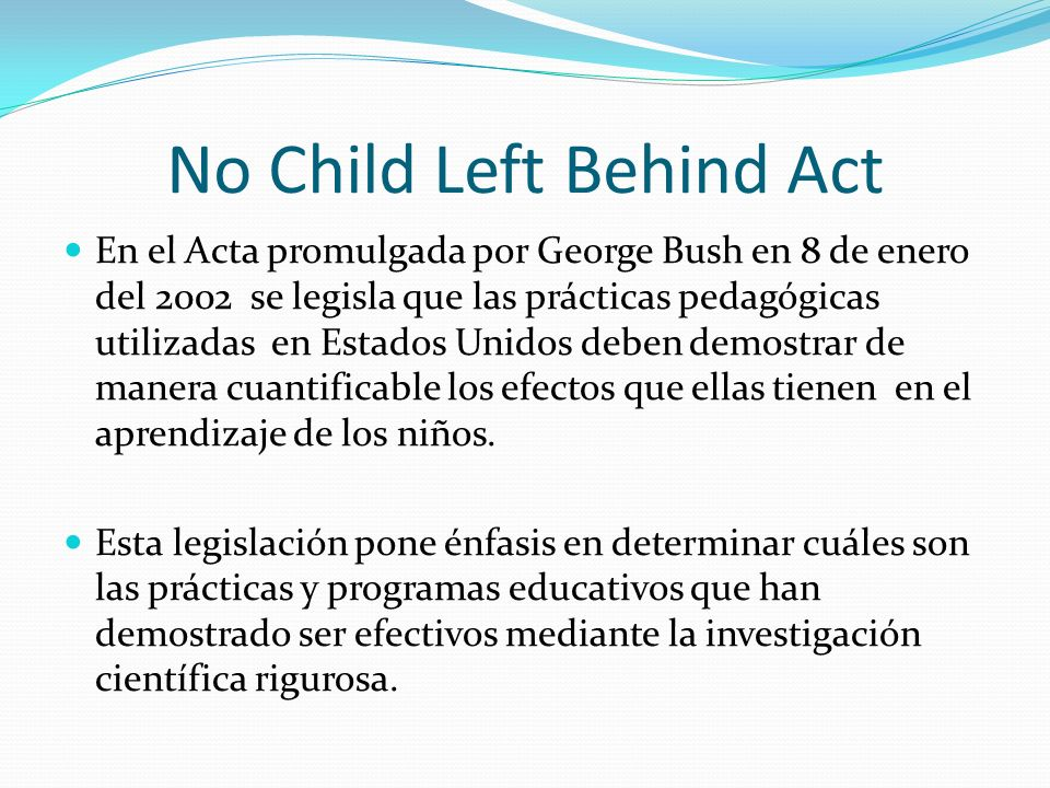 No Child Left Behind Act
