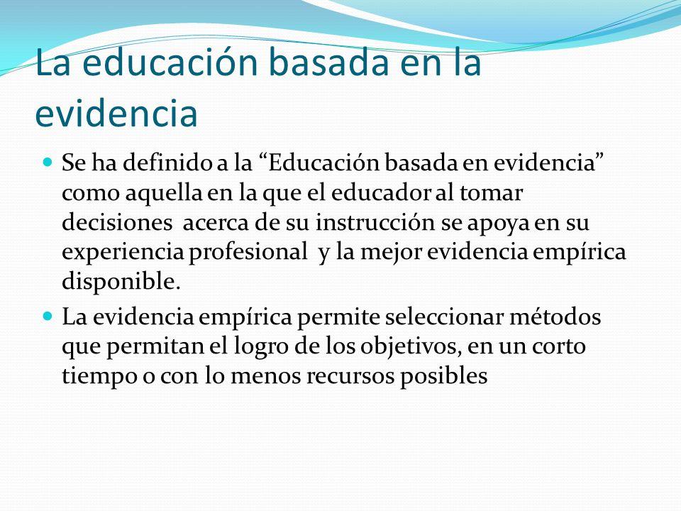 La educación basada en la evidencia