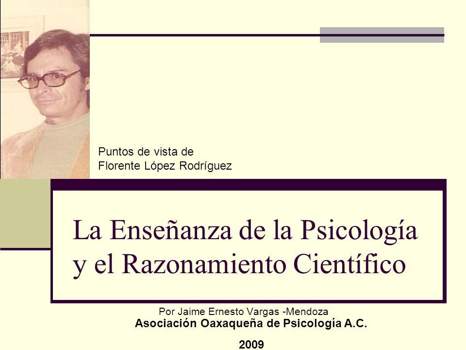 La Enseñanza de la Psicología y el Razonamiento Científico
