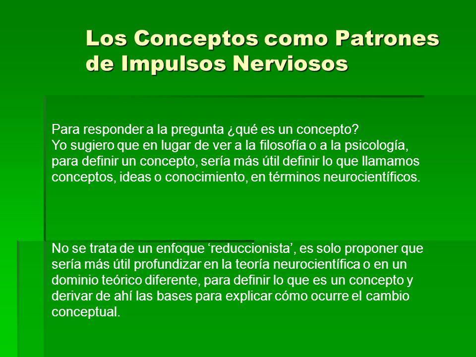 Los Conceptos como Patrones de Impulsos Nerviosos