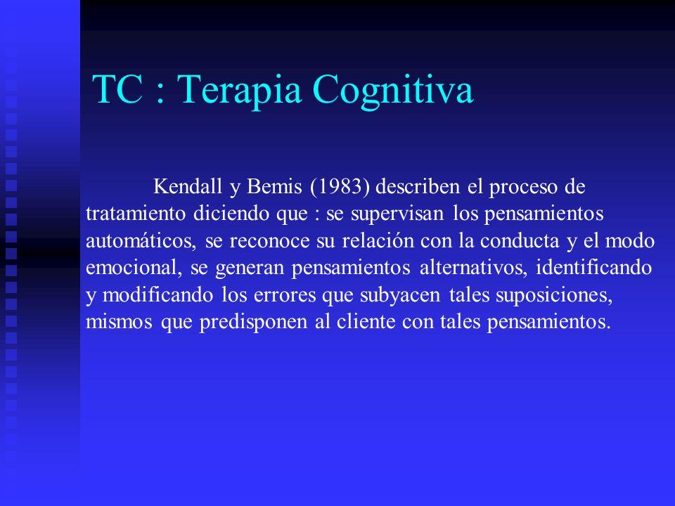 TC : Terapia Cognitiva