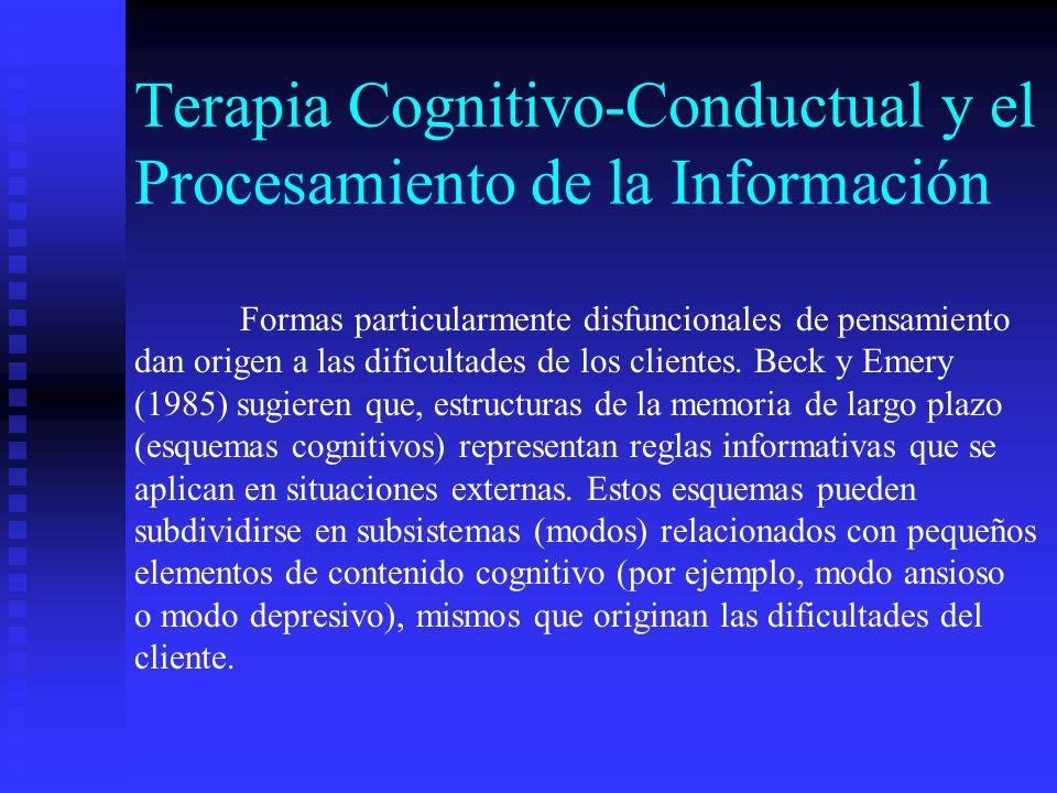 Terapia Cognitivo-Conductual y el Procesamiento de la Información