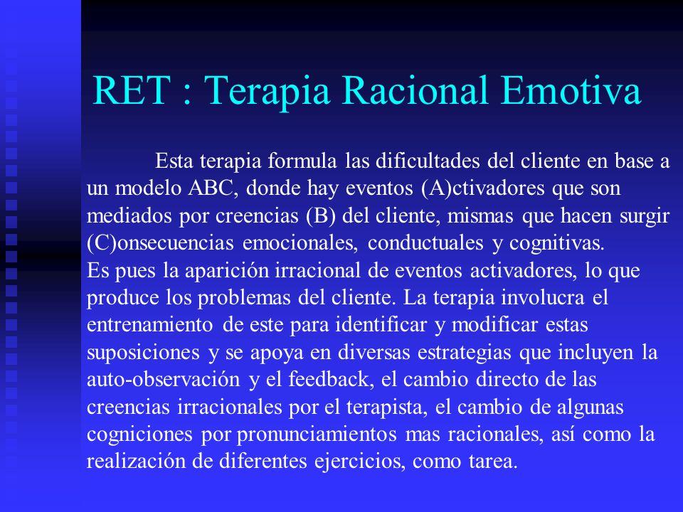 RET : Terapia Racional Emotiva