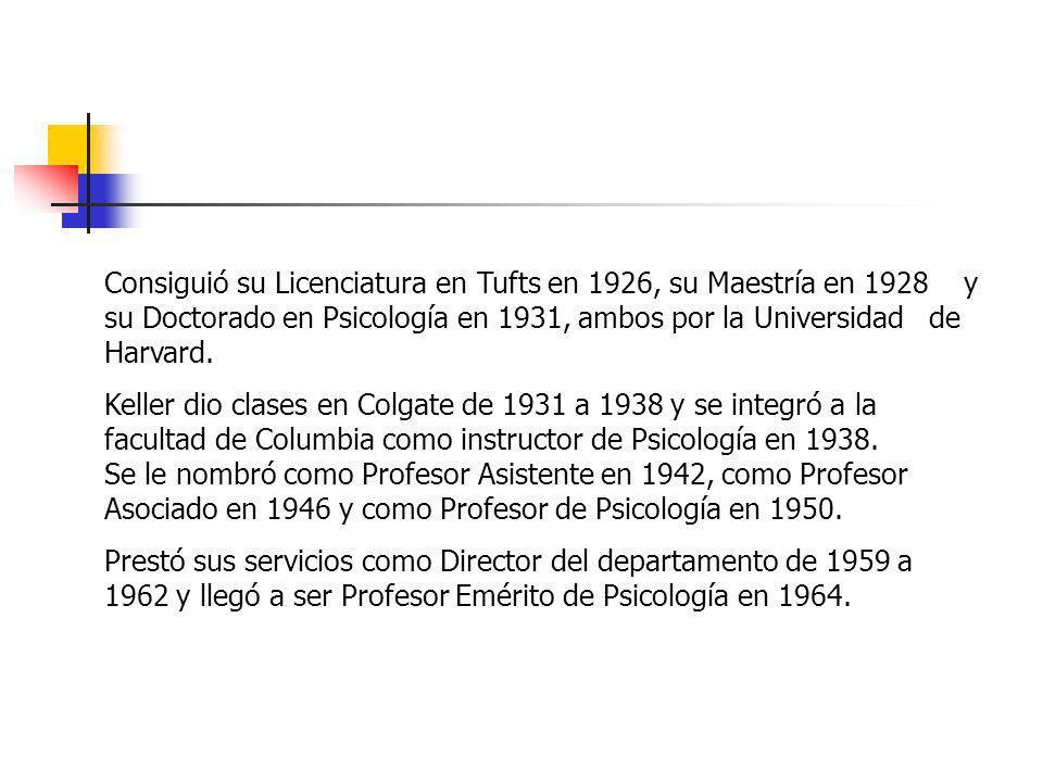 Consiguió su Licenciatura en Tufts en 1926, su Maestría en 1928 y su Doctorado en Psicología en 1931, ambos por la Universidad de Harvard.