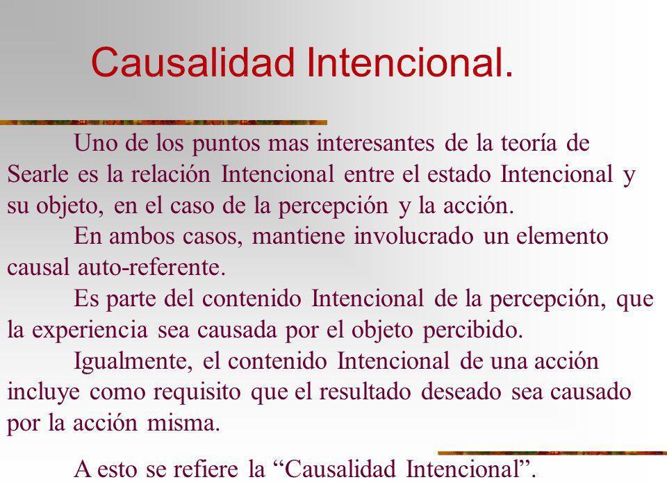 Causalidad Intencional.