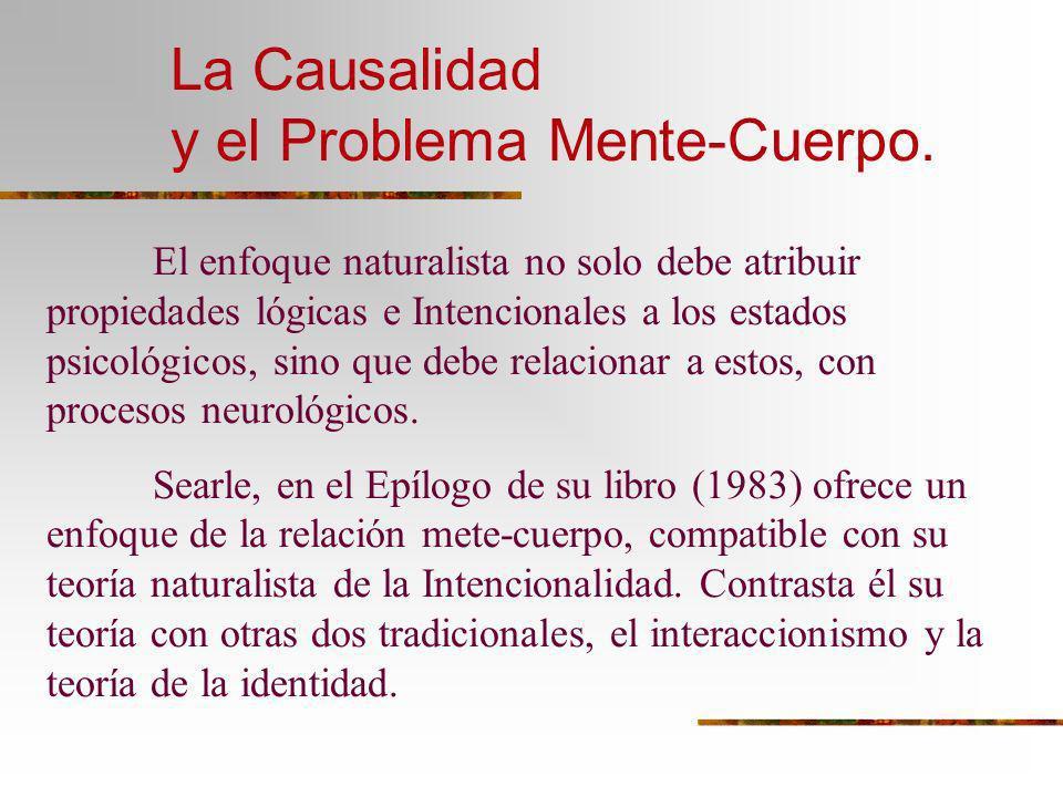 La Causalidad y el Problema Mente-Cuerpo.