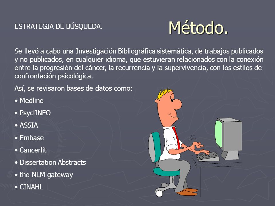 Método. ESTRATEGIA DE BÚSQUEDA.