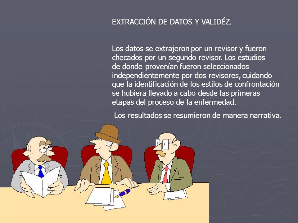 EXTRACCIÓN DE DATOS Y VALIDÉZ.