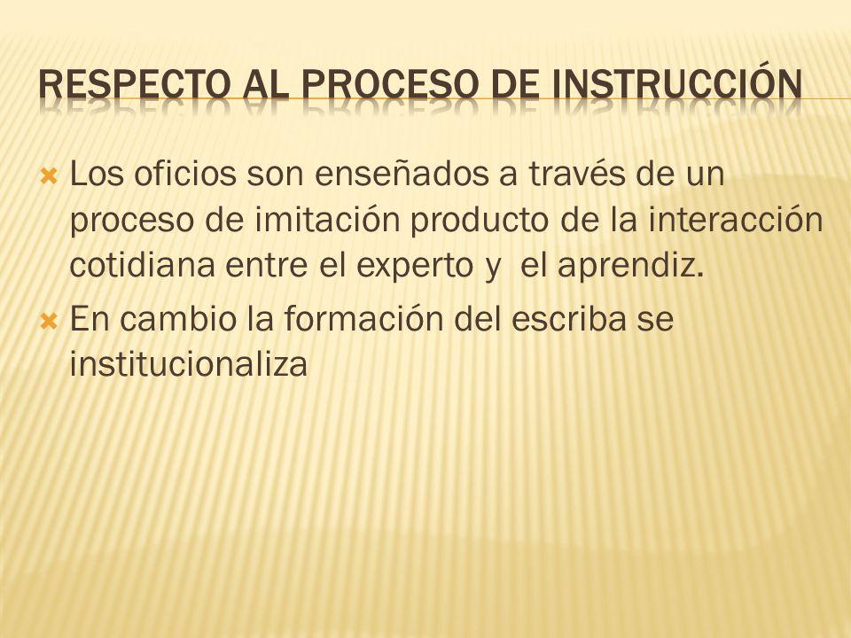 Respecto al proceso de instrucción