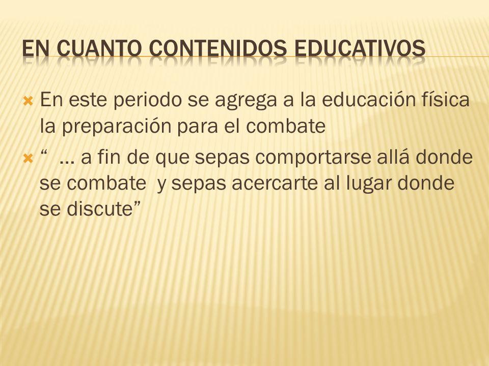 En cuanto contenidos educativos