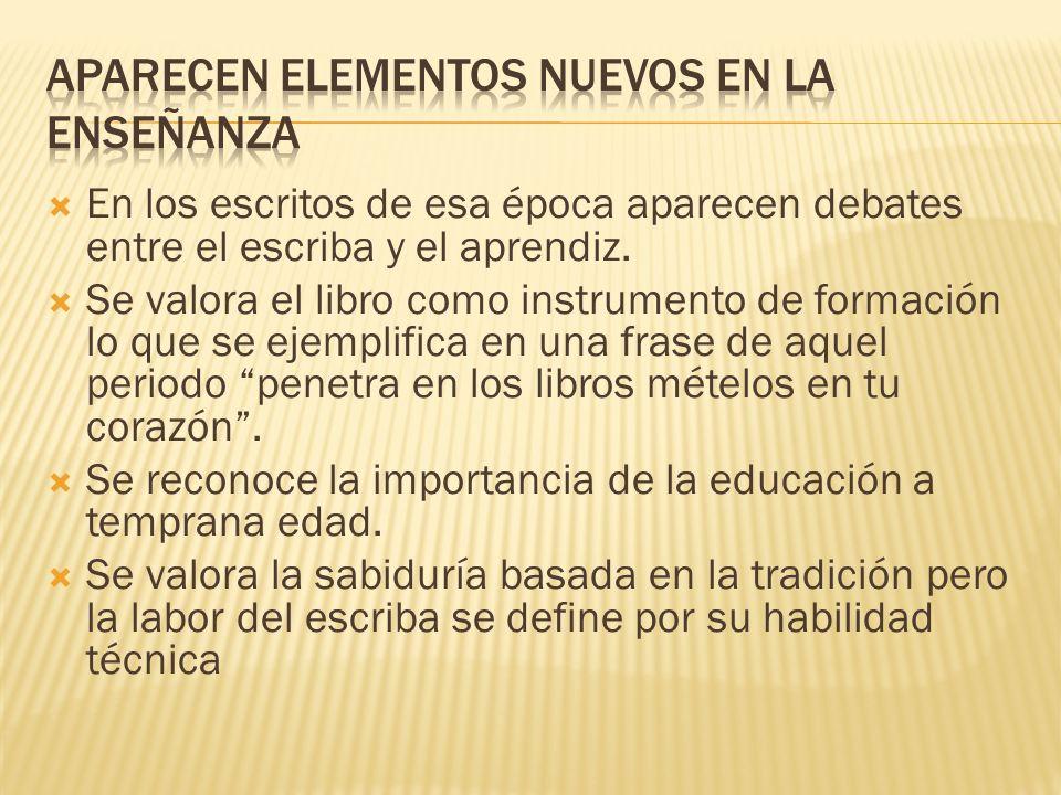 Aparecen elementos nuevos en la enseñanza