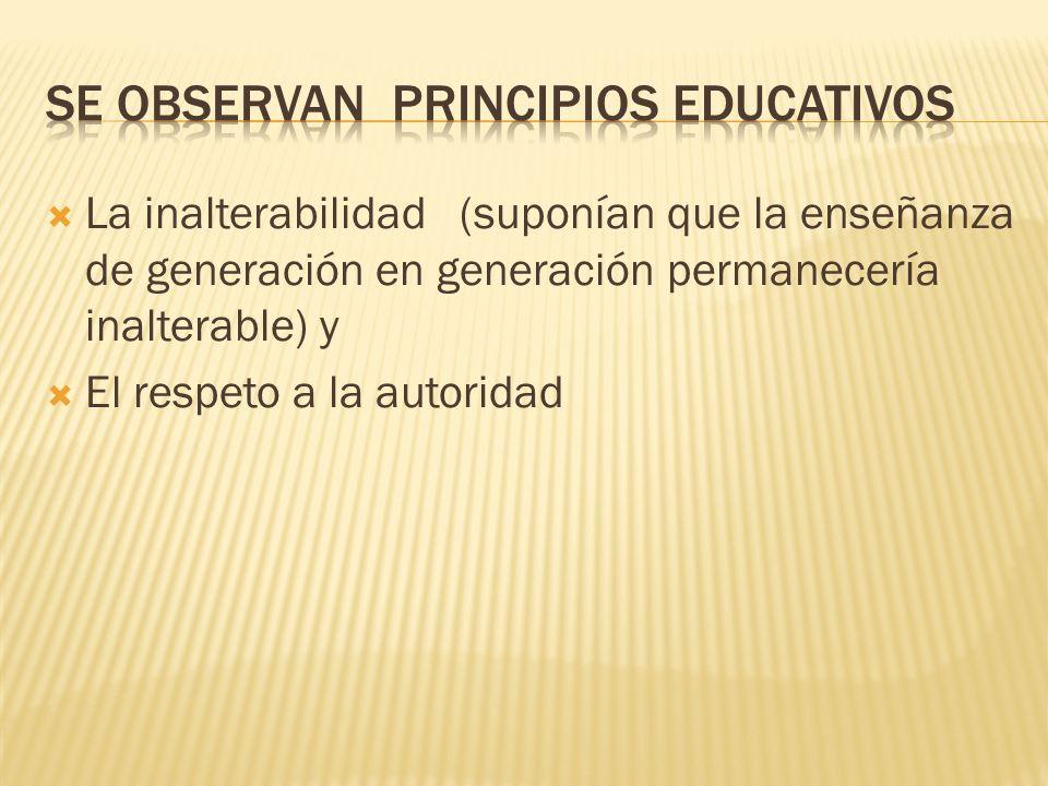Se observan principios educativos