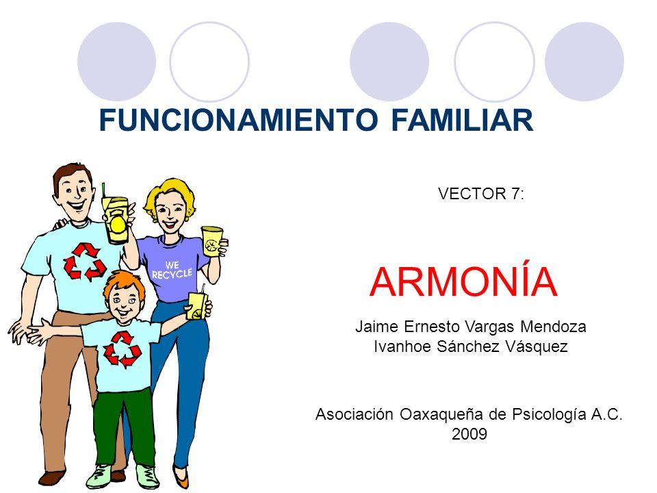 ARMONÍA FUNCIONAMIENTO FAMILIAR VECTOR 7: Jaime Ernesto Vargas Mendoza
