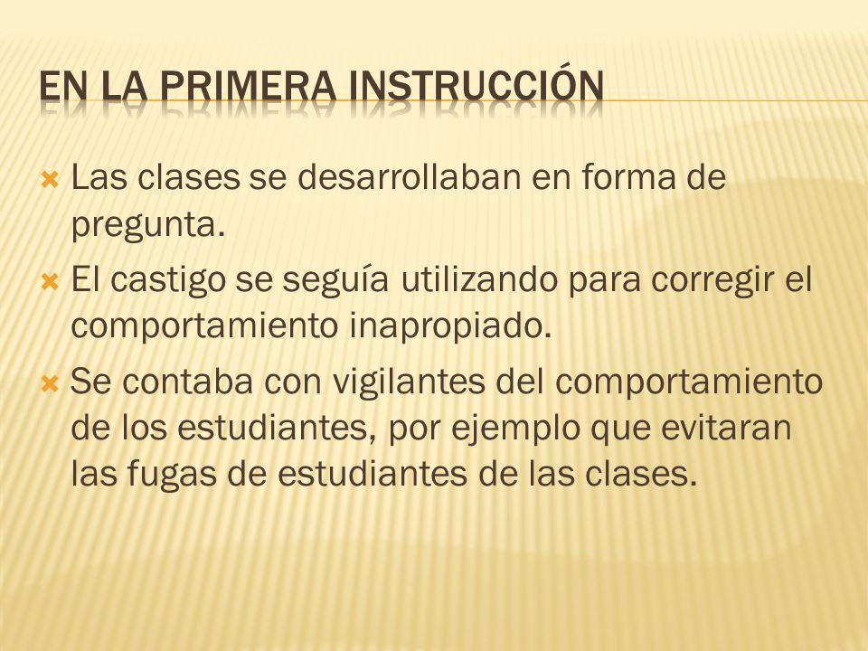 En la primera instrucción