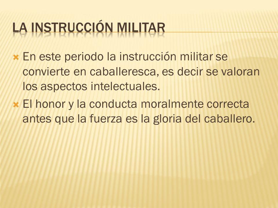 LA INSTRUCCIÓN MILITAR