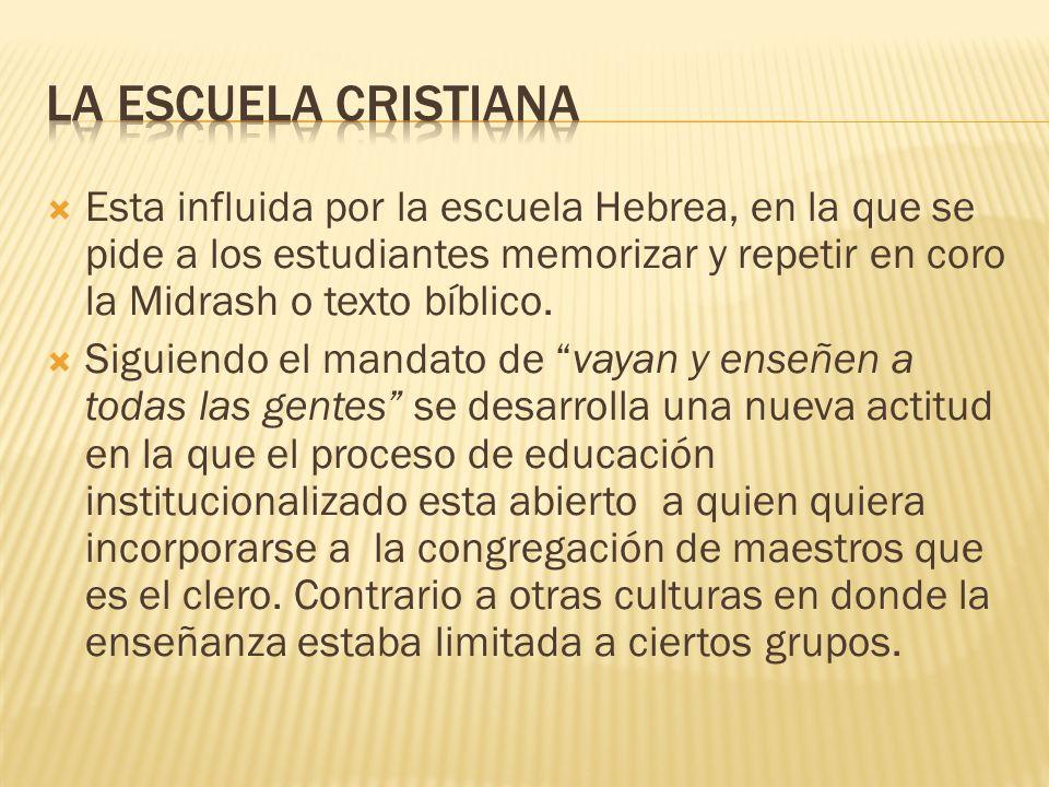 LA ESCUELA CRISTIANA