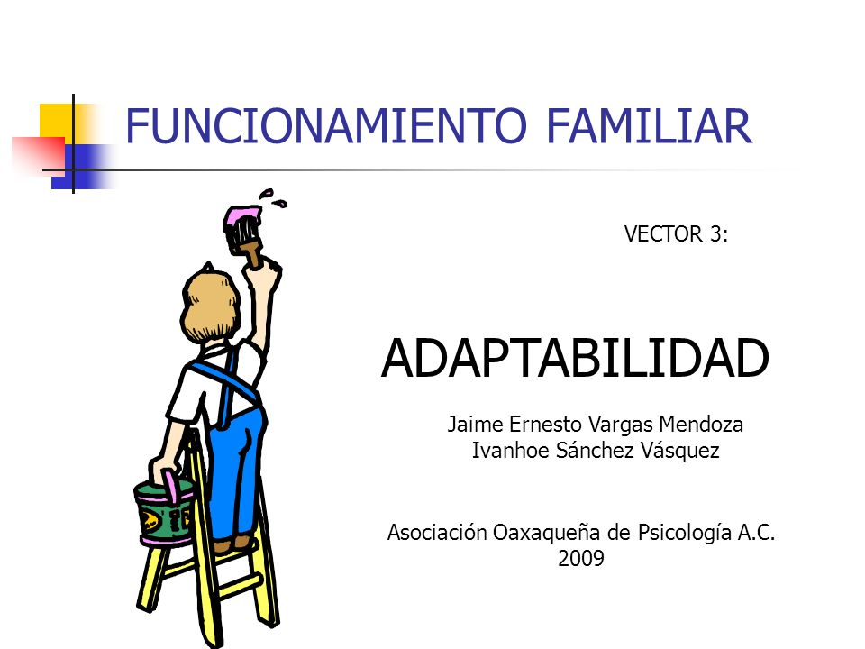 ADAPTABILIDAD FUNCIONAMIENTO FAMILIAR VECTOR 3: