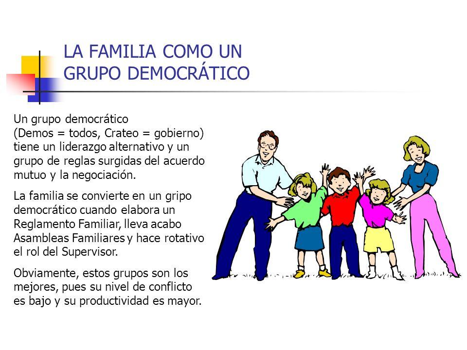 LA FAMILIA COMO UN GRUPO DEMOCRÁTICO
