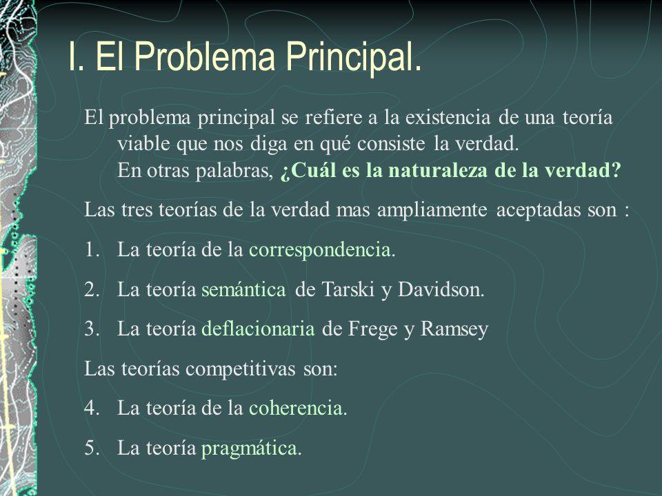 I. El Problema Principal.