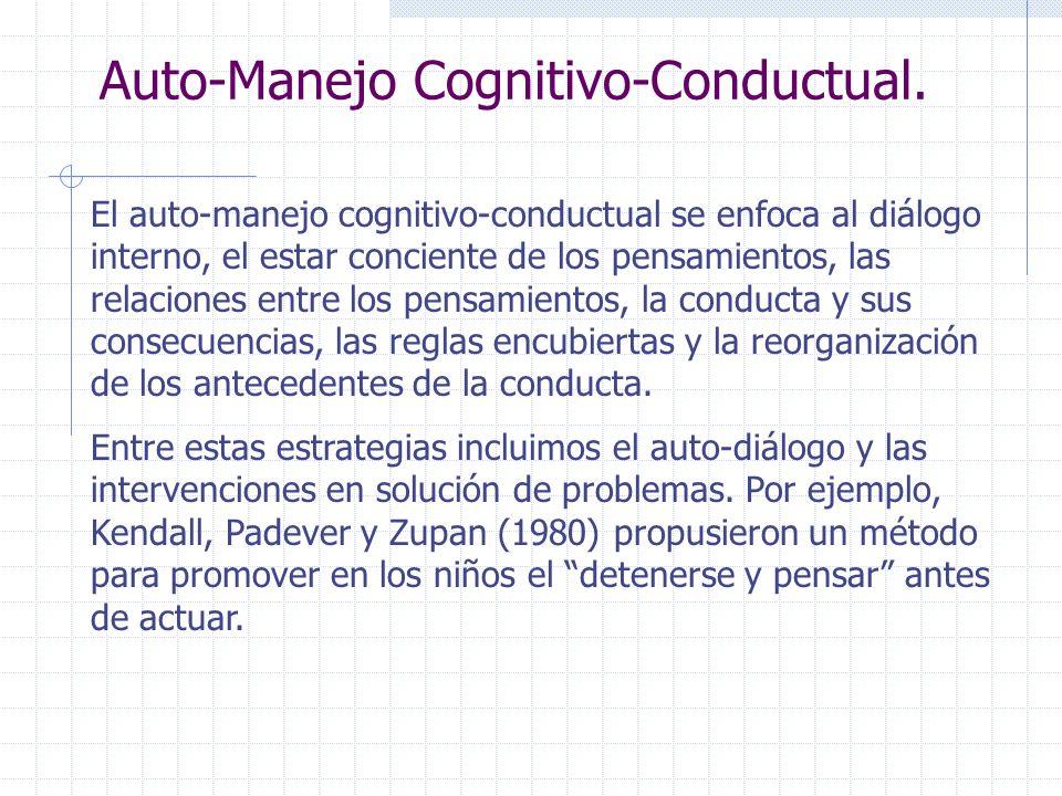 Auto-Manejo Cognitivo-Conductual.