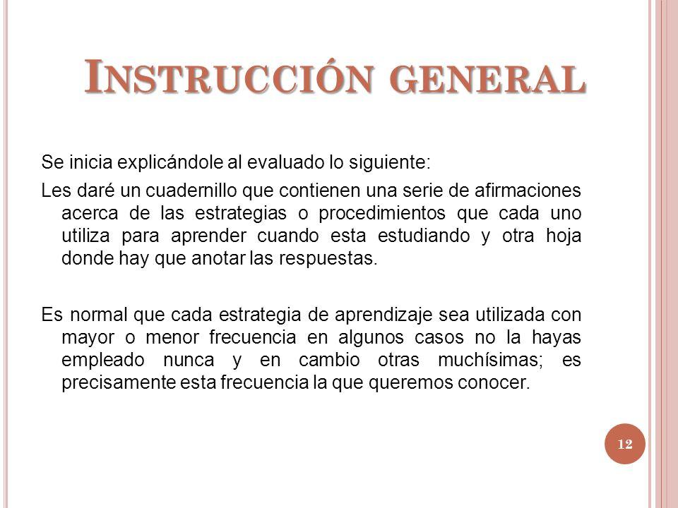 Instrucción general