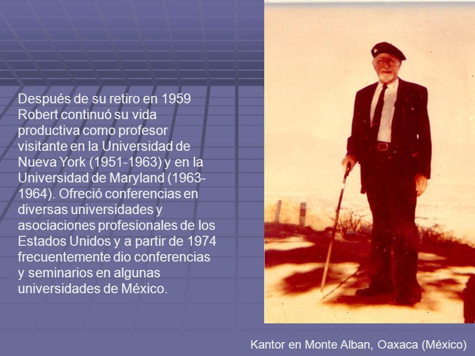Después de su retiro en 1959 Robert continuó su vida productiva como profesor visitante en la Universidad de Nueva York (1951-1963) y en la Universidad de Maryland (1963-1964). Ofreció conferencias en diversas universidades y asociaciones profesionales de los Estados Unidos y a partir de 1974 frecuentemente dio conferencias y seminarios en algunas universidades de México.
