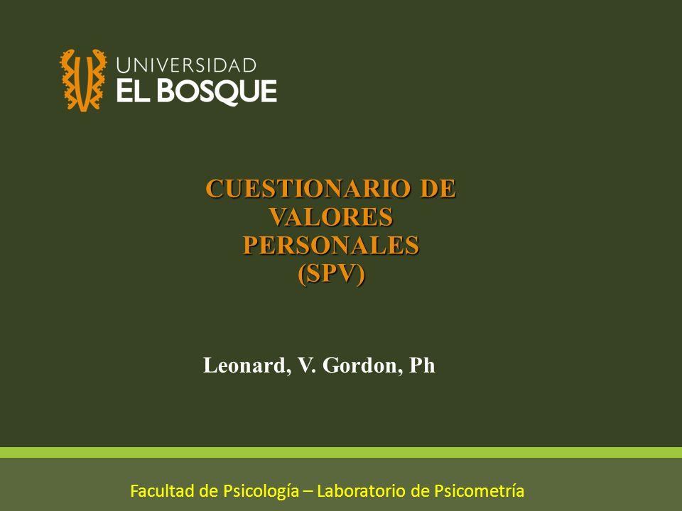 CUESTIONARIO DE VALORES PERSONALES (SPV)