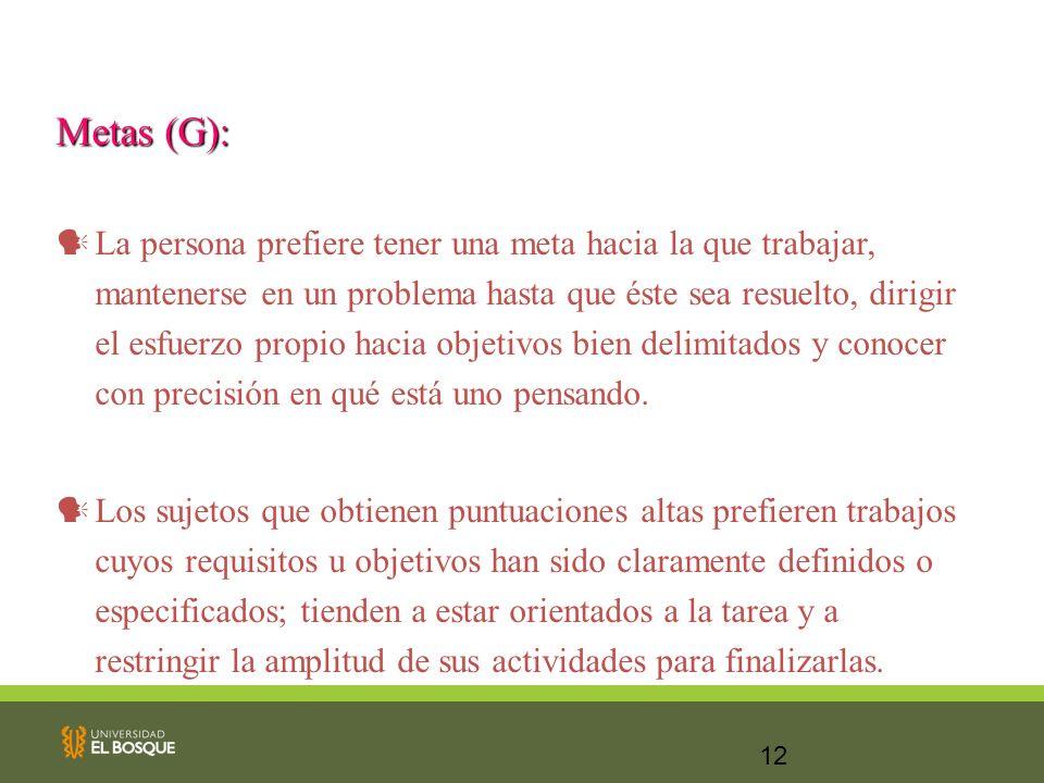 Metas (G):