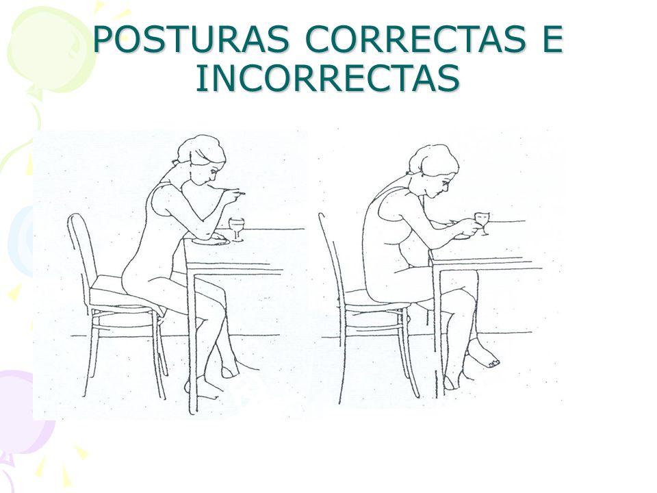 POSTURAS CORRECTAS E INCORRECTAS