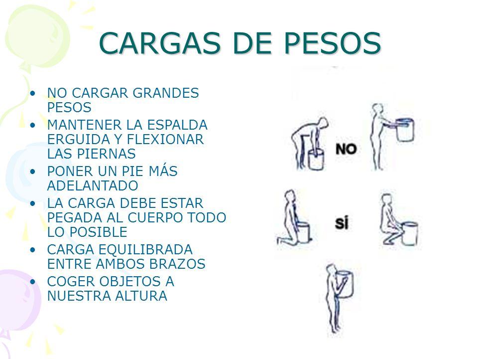 CARGAS DE PESOS NO CARGAR GRANDES PESOS