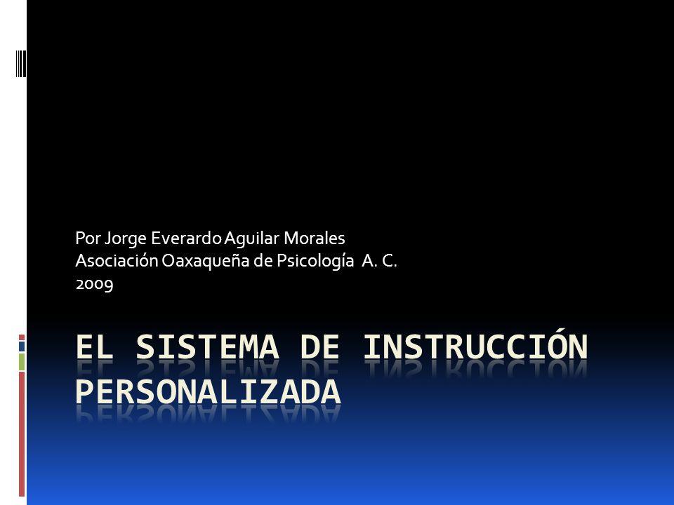 El Sistema de Instrucción Personalizada