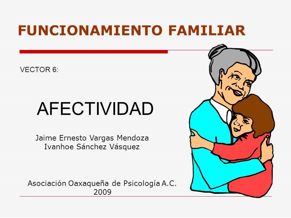 AFECTIVIDAD FUNCIONAMIENTO FAMILIAR VECTOR 6:
