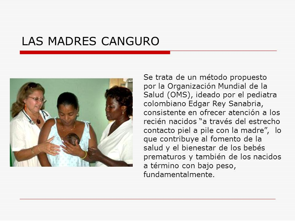 LAS MADRES CANGURO