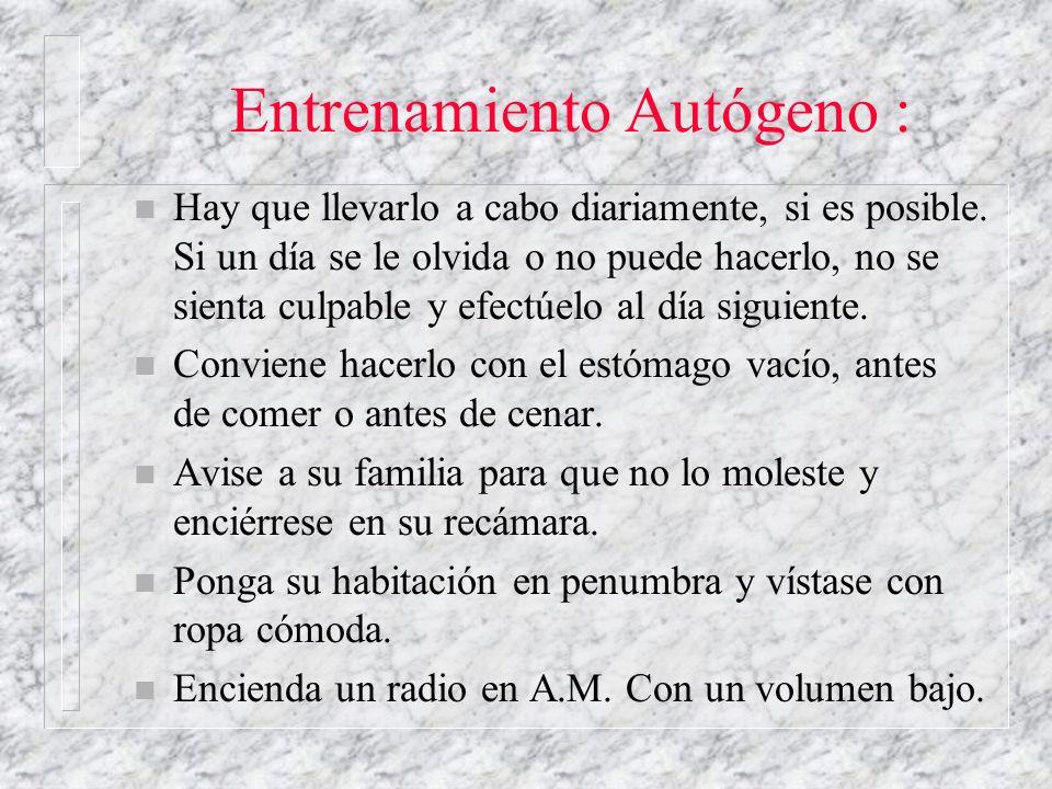 Entrenamiento Autógeno :