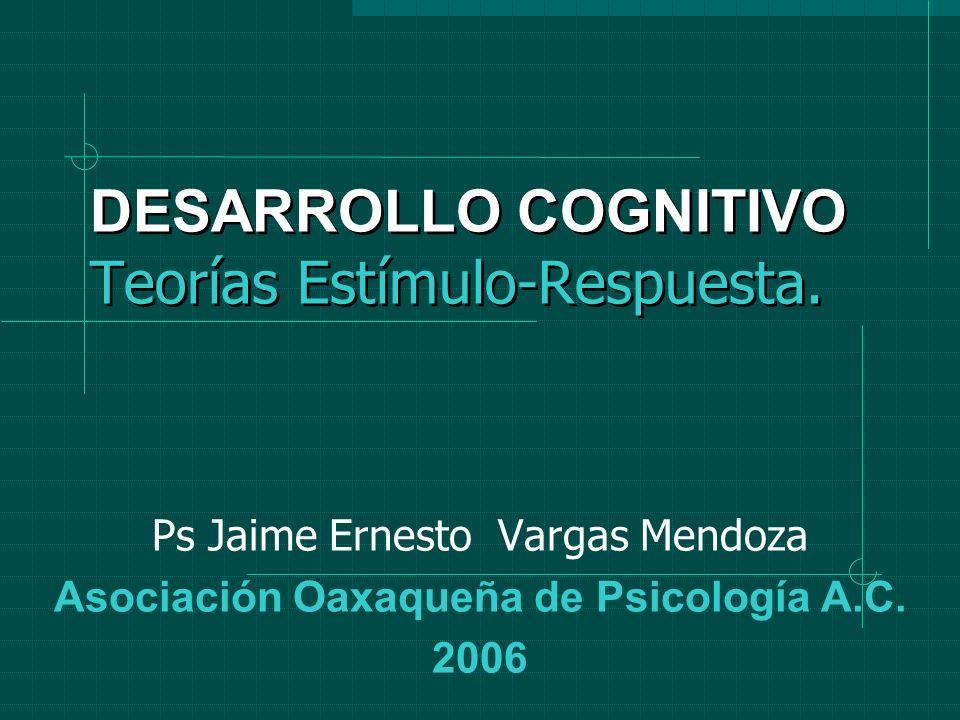 DESARROLLO COGNITIVO Teorías Estímulo-Respuesta.