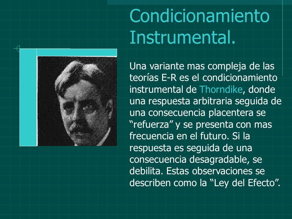 Condicionamiento Instrumental.