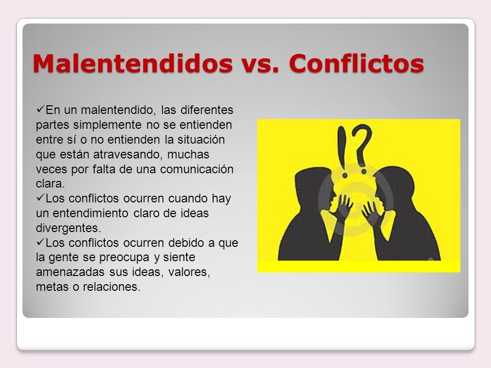 Malentendidos vs. Conflictos