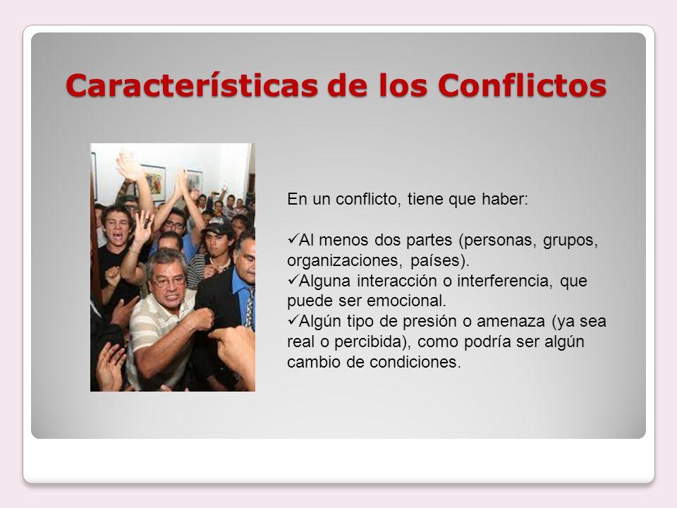 Características de los Conflictos